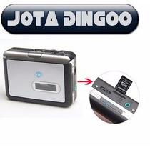 Conversor Fita K7 P/ Mp3 Por Sd + Cartão 8gb + Adaptador Sd