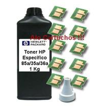 Toner Hp + 10 Chip 285a M1132 M1212nf P1005 P1102w Ce285a
