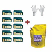 Kit Recarga 1kg Refil De Toner + 10 Chip Samsung Mlt D104s