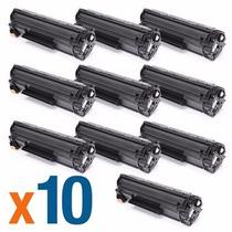 Kit 10 Toner Compatível Hp P1005 P1505 P1102 Cb435 436 285a