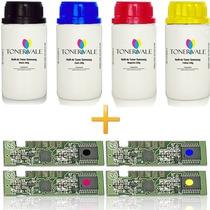 Kit 4 Toner Refil + 4 Chip Samsung Clp-365w Clx-3305fw Cmyk