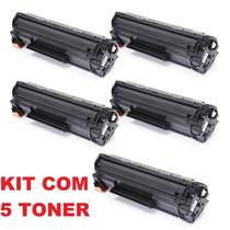 Kit 5 Unidades Toner Hp Ce285a 285a 85a Compatível 35a 36a
