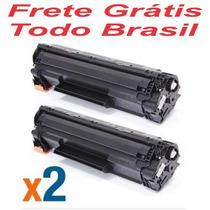 Kit 2 Un Cartucho Toner Hp Preto Ce285a 85a Compativel
