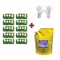 Kit Recarga 1kg Refil De Toner + 10 Chip Samsung Mlt-d105s |