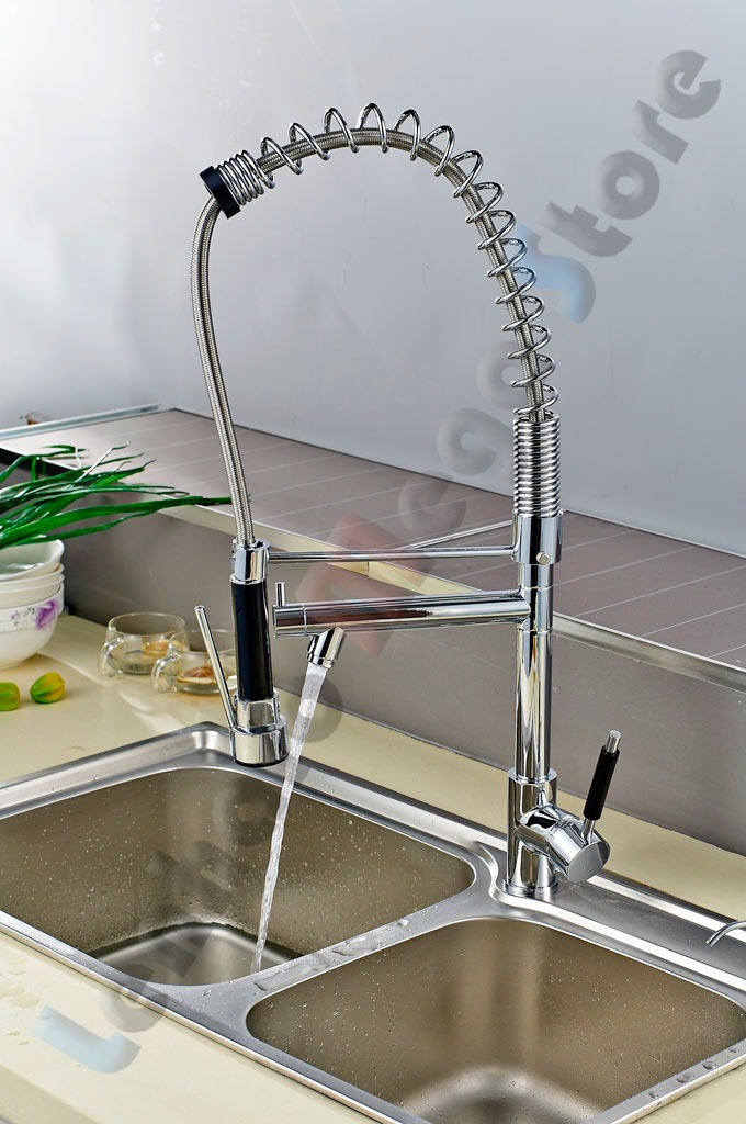 Torneira Monocomando Cozinha Gourmet C Spray Extensor Móvel  R$ 469