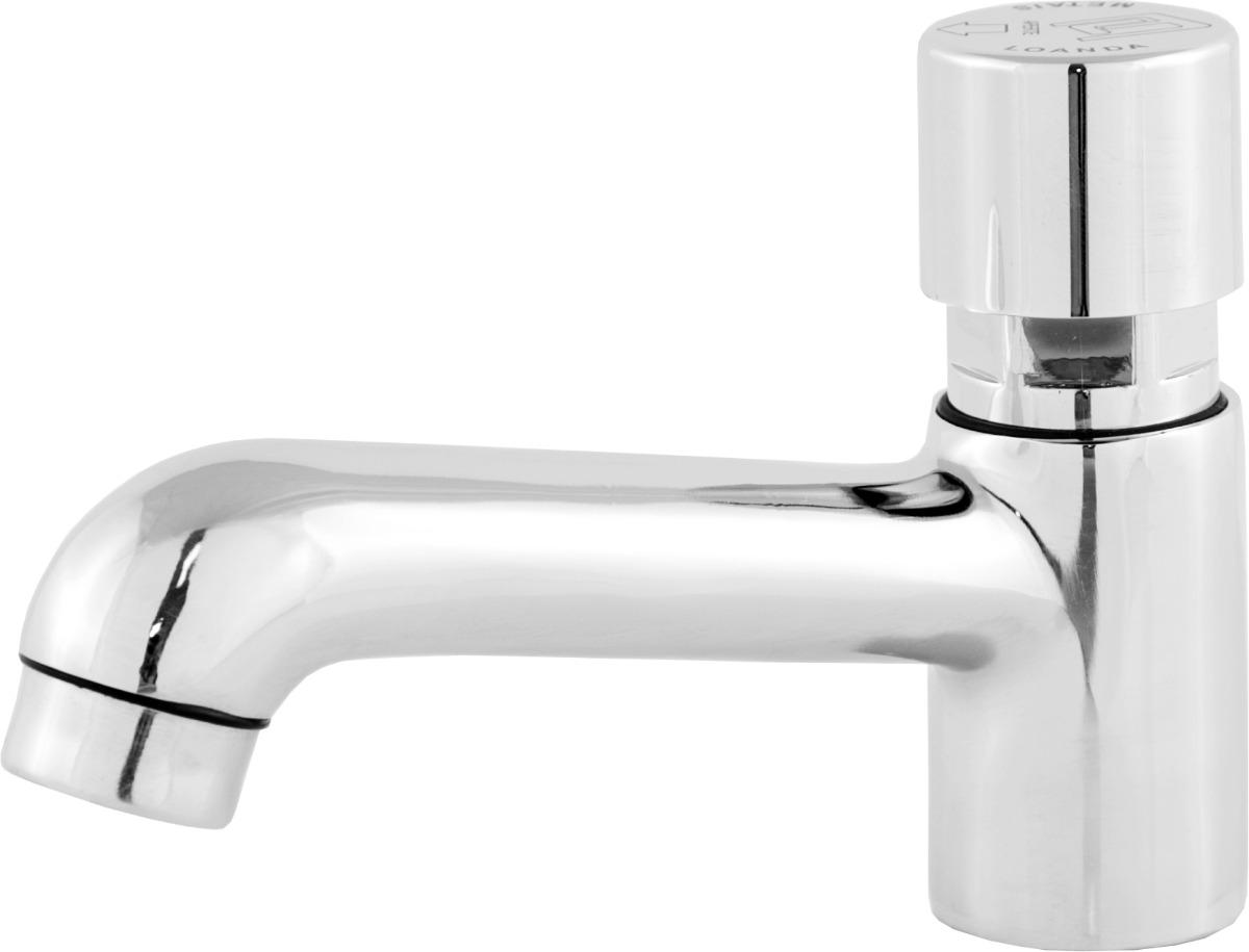 Torneira Para Lavatório Ou Pia De Banheiro Automática  R$ 55,90 no MercadoLivre -> Valvula Automatica Para Pia De Banheiro