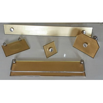 Kit Acessórios Banheiro Vb 5pc Em Vidro 8mm