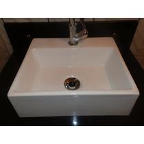 Cuba Sobrepor Para Banheiro Quadrada 34 X 29,5 - Branca