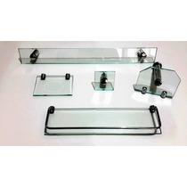 Kit Banheiro 5 Peças Em Vidro - Frete Grátis