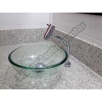 Conjunto Banheiro: Cuba Vidro + Torneira Link E Valvula Clic