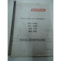 Manual Torno Nardini Mascote Ms 14000 /16000 Ms 175 /205