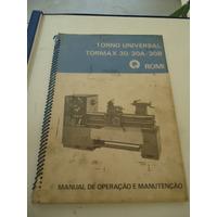 Manual Do Torno Romi Tormax 30 A B