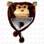 Touca Gorro Bichinhos Pelúcia Inverno - Macaco - Importado