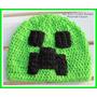 Touca Gorro Croche Minecraft Creeper - Enderman Art Crochê