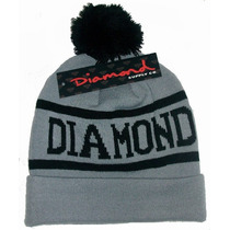 Touca Gorro Diamond Supply,cinza,pronta Entrega