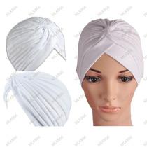 Turbante Branco | Touca | Gorro | Boina | Branco