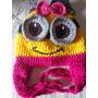 Touca Gorro Minions Feminina Infantil Em Crochê De Lã