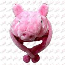 Touca Gorro Bichinhos Pelúcia Inverno - Peppa Pig