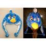 Touca De Pelúcia Angry Birds Azul Inverno - Tamanho Único