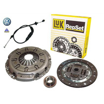 Kit Embreagem Vw Polo Classic 1.8 97/01 Luk + Cabo De Embrea