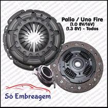 Kit De Embreagem Palio - Uno Fire 1.0 8v / 1.3 8v (180mm)