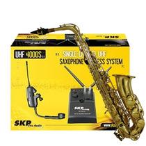 Microfone Sem Fio Para Sax Trombone Skp Uhf-4000s