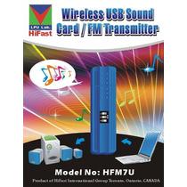 Transmissor Fm Hfm07u Digital Pll Notebook Pc Mais Potente