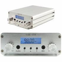 Transmissor De Fm Cze-15a Estéreo 15w Profissional Completo