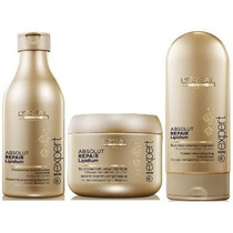 Loreal Absolut Repair Lipidium Shampoo + Cond. + Máscara