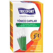 Tônico Capilar Tricofort 20ml C/6 Ampolas