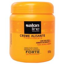 Creme Alisante Salon Line Tiaglicolato Manga Forte 500g