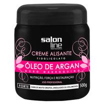 Creme Alisante Salon Line Óleo De Argan Forte 500g