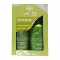 Kit Shampoo E Condicionador Argan Oil Inoar 250 Ml