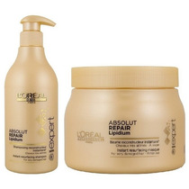 Loreal Absolut Repair Lipidium Shampoo 500ml + Mascara 500ml