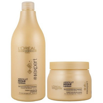Loreal Absolut Repair Lipidium Shampoo 1500ml+ Mascara 500ml