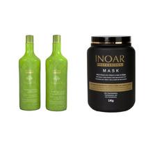 Inoar Kit Argan Oil Shampoo Bálsamo Máscara De Tratamento1kg