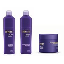 Kit De Matização Trivitt Color Blonde (3 Produtos)