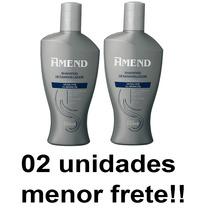 Shampoo Desamarelador Amend Cabelos Grisalhos Kit 02 Unid.