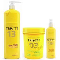 Cauterização Trivitt + Máscara 1kg + Fluido P/ Escova + Nf-e