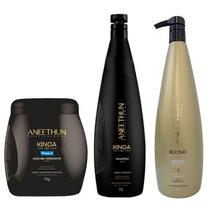Aneethun Kit Shampoo Kinoa + Máscara Kinoa + Shampoo Silver