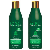 Kit Sos Detox Repair Shampoo+reconstrutor Capilar Lé Charmes