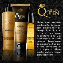 Kit Aneethun Queen Majestic Shampoo,máscara E Oil Tratament