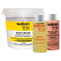 Alisante Profissional Salon Line Super Guanidina Kit 215g