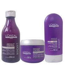 Loreal Absolut Control Shampoo Máscara E Condicionador 250ml