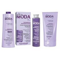 Kit Desamarelador Alfapart Alta Moda Shampoo + Máscara+power
