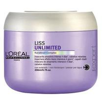 Loreal Liss Unlimited Mascara Efeito Liso Profissional 200ml