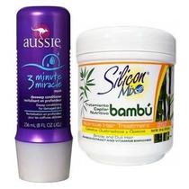 Máscara Silicon Mix 450g + Aussie 3 Minute 236ml