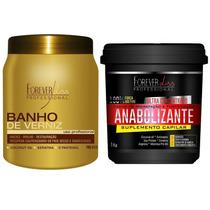 Banho Verniz + Anabol Capilar Hidratação ! Forever Liss Ar