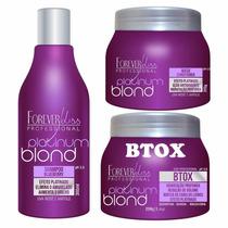 Shampoo Roxo Forever Liss + Máscara + Bottox -kit 3 Produtos