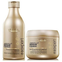 Shampoo 250ml + Máscara 200g Loreal Absolut Repair Lipidium